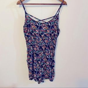 Divided Romper floral spaghetti strapped 12